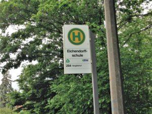 Bushaltestelle der Eichendorffschule in Erlangen