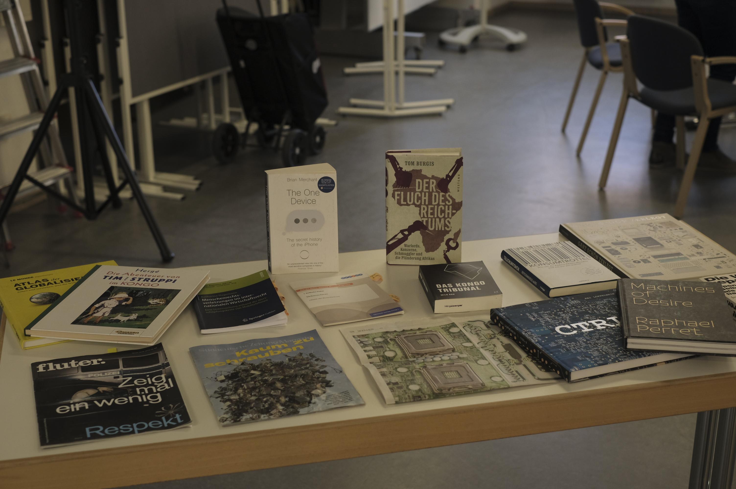 Büchertisch bei der Fortbildung