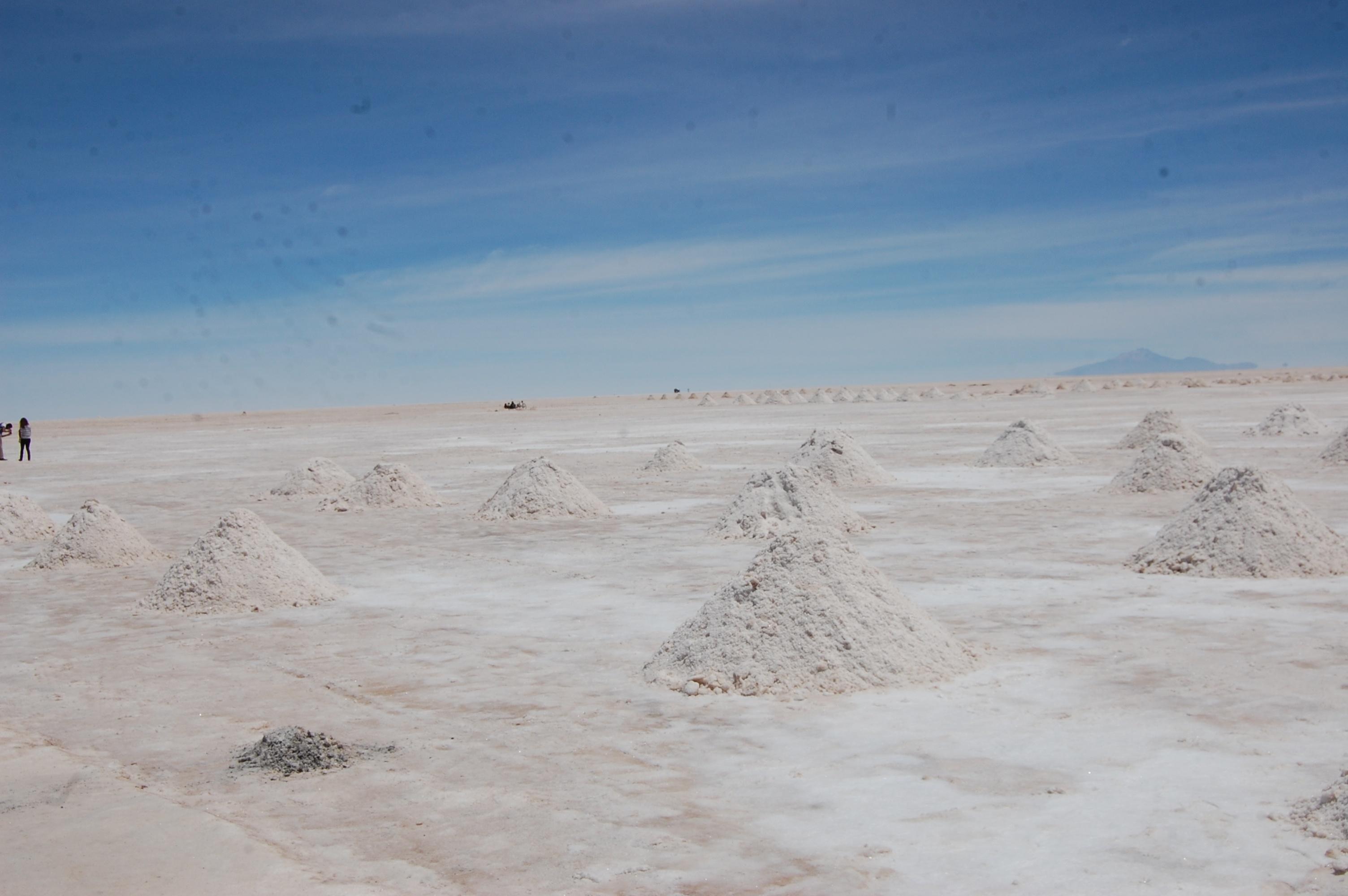 Lithiumabbau im Dreiländereck Chile, Bolivien, Argentinien; Salar de Uyuni